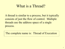 Processes and Threads - The College of New Jersey
