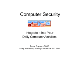 Computer Security - SLAC Public Website Server