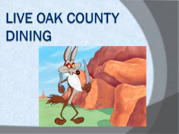 Live Oak County Dining - ESC-2