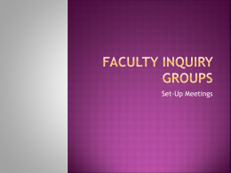 Faculty Inquiry Groups