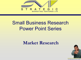 Market Research - Small Business Resource