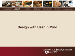 Design with Users in Mind