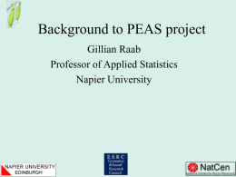 background to the PEAS project