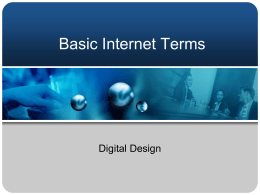 Basic Internet Terms