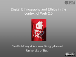 Digital Ethnography and Ethics in the context of Web 2.0