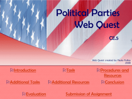Political Parties Web Quest
