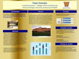 PowerPoint poster template - Western Michigan University