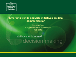 Emerging Trends and ABS Initiatives on Data Communication