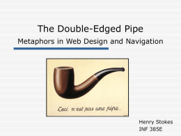Metaphors in Web Design and Navigation