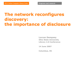 The network reconfigures discovery
