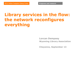 Library services in the flow