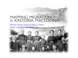 Mapping Migration in Macedonia