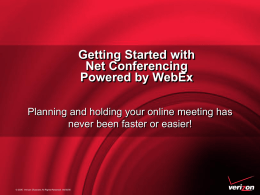 Getting Started with Net Conferencing