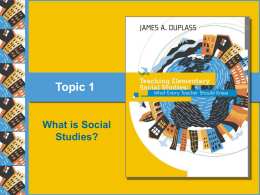Topic 1: What Is Social Studies Education?