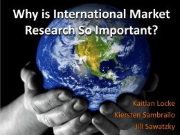 Why is International Market Research So Important?