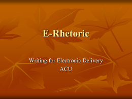 E-Rhetoric Chapter 4