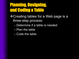 Coding the Table - Horace Mann School
