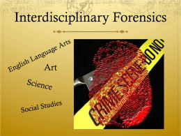 Forensics PowerPoint - The Enchanted Librarian