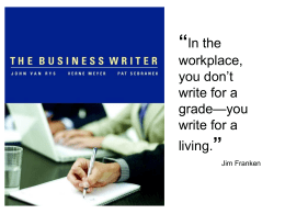 Features of The Business Writer