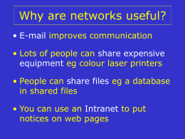 Why are networks useful?