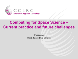Computing for Space Science - Current practice and future challenges