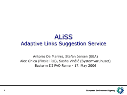 ALiSS - Adaptive Links Suggestion Service