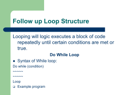 Do While Loop