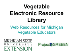 Michigan Vegetable Resource Library