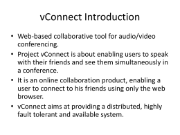 vConnect Introduction