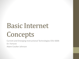 Basic Internet Concepts