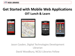 Get Started with Mobile Web Applications