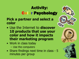 Activity: Color Psychology