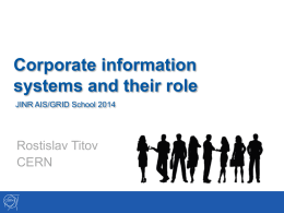 Corporate information systems and their role