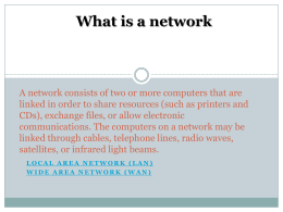 What is a network Local Area Network