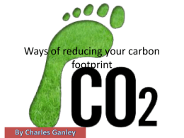 Ways of reducing your carbon footprint