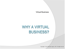 Why a Virtual Business?