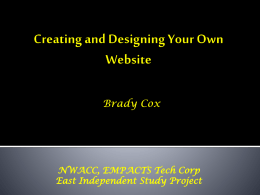Creating and Designing Your Own Website