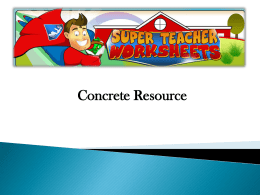 fractions resources concrete 1x - USQ ePortfolio