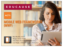 Mobile Web Frameworks (MWF) - Faculty Web Pages