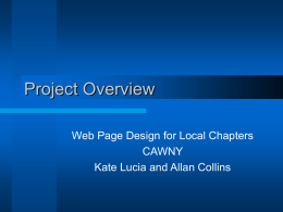 Web Page Design for Local Chapters