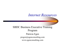 sba web presentationh - ACT! Software Consulting Services