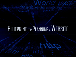 Blue Print for Planning a Website