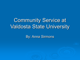 Community Service at Valdosta State University