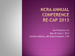 NCRA Annual conference re