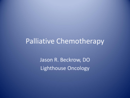 Palliative Chemotherapy