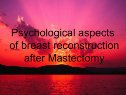 Breast Cancer Mastectomy presentation