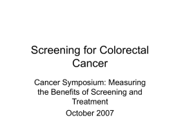 Screening for Colorectal Cancer - Grand River Hospital