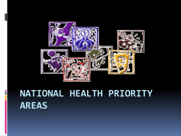 National Health Priority Areas