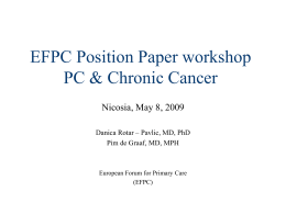 EFPC Position Paper workshop PC & Chronic Cancer