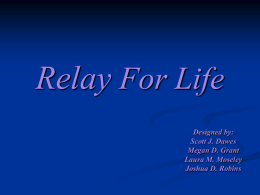 Relay for Life - Shepherd Webpages